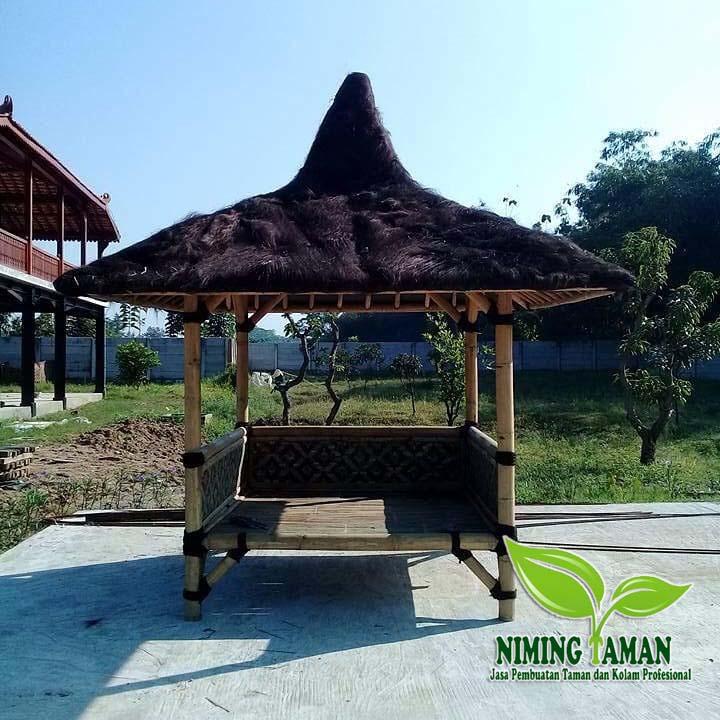jasa pembuatan saung bambu
